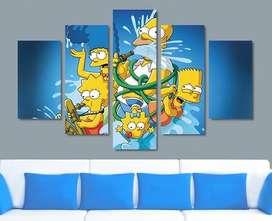 Cuadros Decorativos Familia Simpson