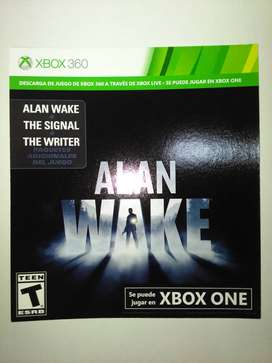 "Alan Wake DLC Xbox One ""Y/O 360"""
