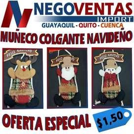 MUÑECO COLGANTE NAVIDEÑO DECORATIVO PARA TU HOGAR VARIEDAD EN MODELOS
