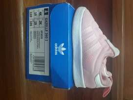 Zapatillas Adidas Gazelle 360 I para Niña Rosadas talla 19 originales con su caja poco uso