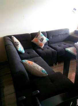 Muebles de Sala en Ele con Esquinero