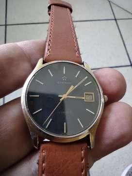 Reloj Eterna Suizo Original Hermoso Cristal Safiro
