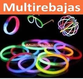 100 Pulseras Glow Neon Manillas