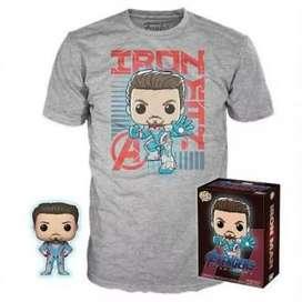 Funko Pop Iron man  Mas Polo XL Avengers  Ene Game  Brilla en la Oscuridad  el Funko