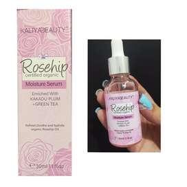 Suero Facial Hidratante Kaliya beauty rosehip  aceite de rosa y ácido hialurónico