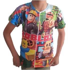Camiseta Roblox sublimada