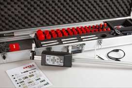 Kit de medición TECH Digital con accesorios. Compás de varas telescópico