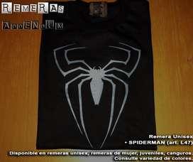 Remeras unisex Venom Spiderman superheroes, cine, series Estampadas pintura premium Algodón 100% ENvios sin cargo Promo!