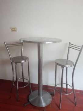 Sillas y mesas para pizzeria en acero inoxidable
