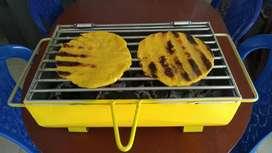 Fabricó estufas y asadores mini