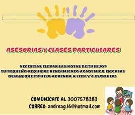 Asesorias y clases particulares