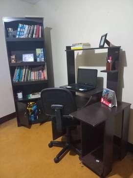 ganga biblioteca + escritorio de PC