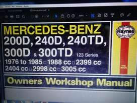 Manual del Mercedes Benz 200D 240D 240DT 300D 300DT
