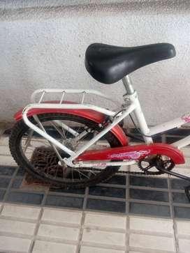Bicicleta de paseo rodado 20 unisex Futura roja y blanca