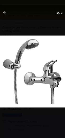 Griferia monocomando de transferencia con ducha flexible mallado