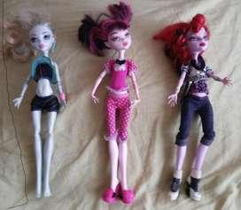 Originales Monster High, Barbie, Ken Remato En Buen Estado