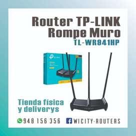 ROUTER TP-LINK ROMPEMUROS 3 ANTENAS TL-WR941HP