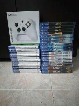 Juegos Ps4 nuevos y Control serie X/S