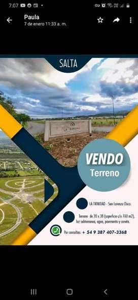 Vendo Terreno en La Trinidad( San Lorenzo chico)