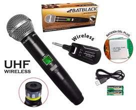 Micrófono Profesional Inalámbrico de Mano UHF