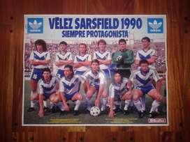 Póster Revista El Gráfico Vélez Sarsfield 1990
