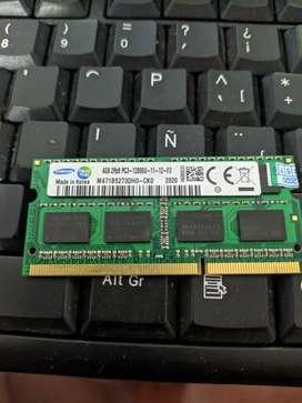 Vendo memoria de 4gb ddr3 para portátil, completamente nueva
