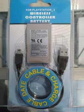 KIT BATERÍA CABLE USB MINI-B NUEVO PS3 PLAY 3 PLAYSTATION 3 PROMOCIÓN GARANTIZADOS