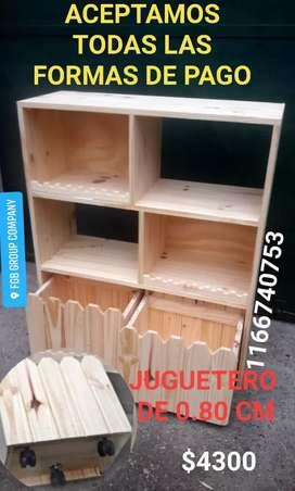 JUGUETERO DE PINO 0.80 CM