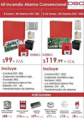 kit alarma contra incendios 585/sistema de alarma contra incendio certificado/kit alarma dsc prueba de bomberos