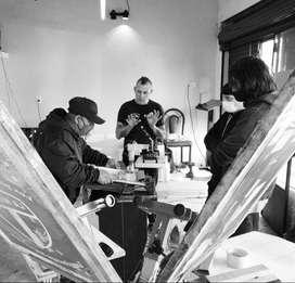 curso de serigrafia textil estampado  taller en lomas de zamora sabado 16 de octubre