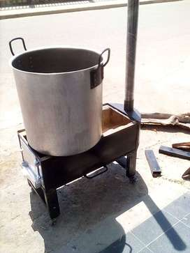 Estufa para cosinar a leña