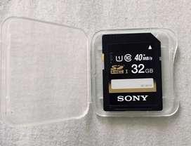 Memoria Sd Sony 32Gb Clase 10 Original