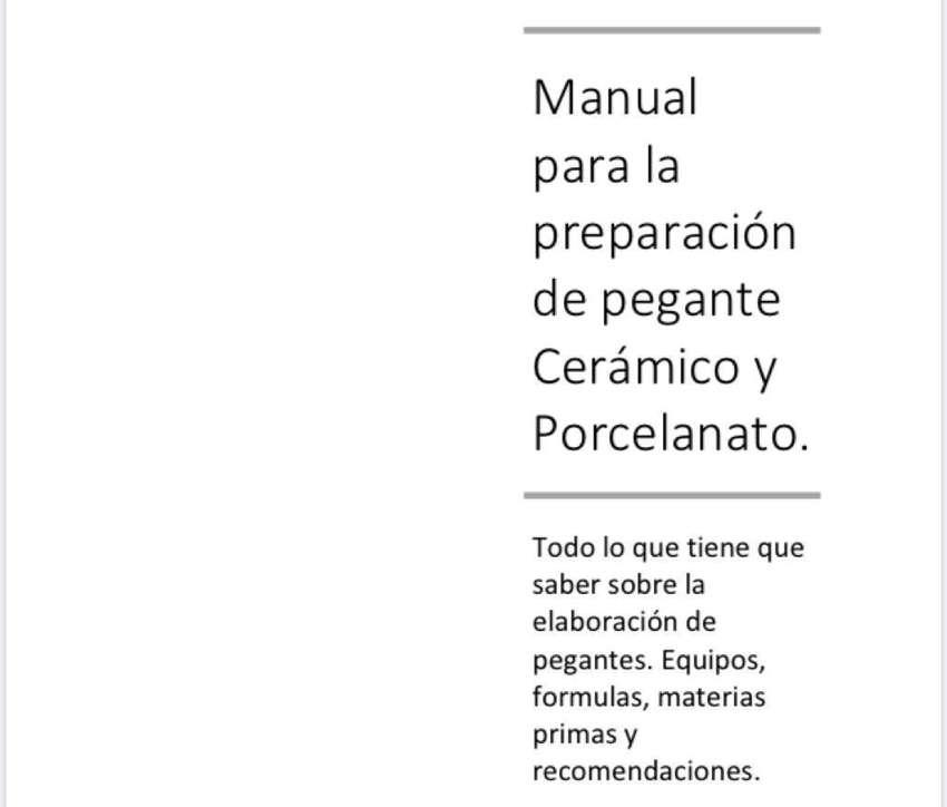 Manual Elaboracion Pegante Ceramico. 0