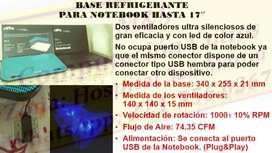 Base refrigerante para Netbook Notebook hasta 17''