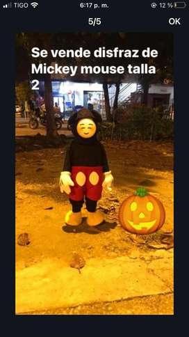 Disfraz de  niño ..pirata y Mickey mouse
