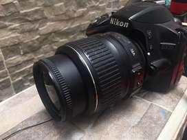 Camara Nikon D3200 24mpx 2 baterias.