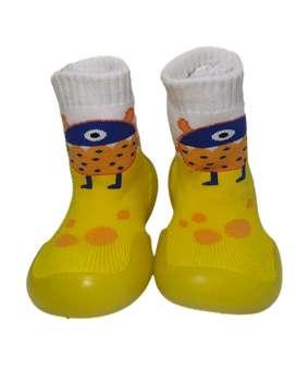Primeros Zapato/botín Bebe Tipo Media Suela En Goma Suave