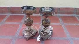 Lamparas veladores de bronce