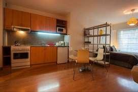 Hermoso 40 m2 Studio Monoambiente con Cochera 22 m2 en Recoleta