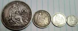 Vendo Monedas Antiguas de Plata Del Perú