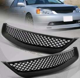 FRONT HOOD GRILL GRILLE HONDA CIVIC 2001-2003