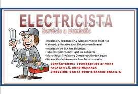 servicio técnico de Electricista residencial y Industrial