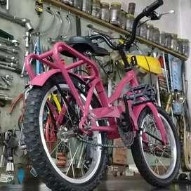 Bici rosa de niña 14