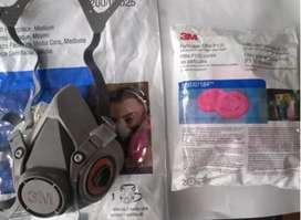 Mascara media cara 3M 6200 con filtros 2097