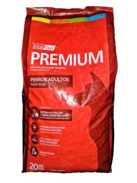 Alimentos premium para mascotas
