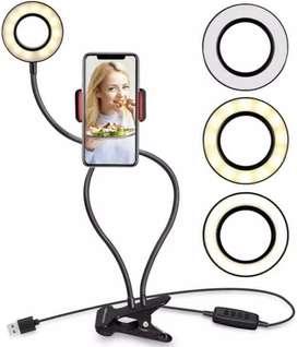 Aro led con soporte para celular
