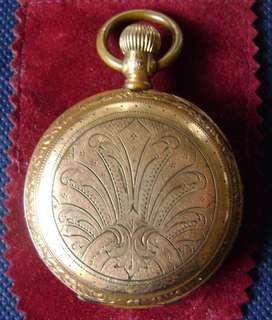 Reloj de bolsillo Pegasus Watch Co. c1890 baño en oro funcionando. / Maxim Nord