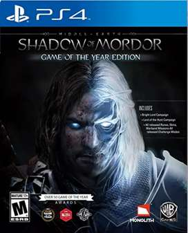 Shadow of Mordor Middle Earth PS4 Game Of The Year Edition/ Juego Shadow of Mordor Edición juego del año
