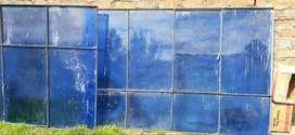 Ventadas metalicas color azul