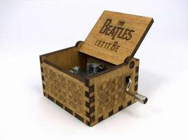 Caja Musical - Beatles Let It Be Regalo Madera